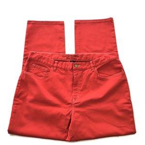 Lauren Jeans Co. Womens 16 Ralph Lauren Red Denim